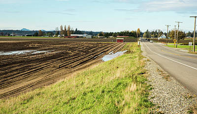 Photograph - October Brings Muddy Fields by Tom Cochran