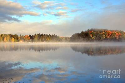 October Chill At Stoneledge Lake Art Print