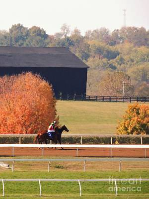 Photograph - October Day At Keenland by Neil Zimmerman