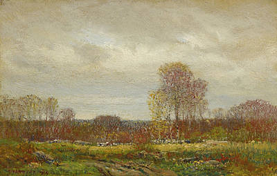 Painting - October Day by Dwight William Tryon