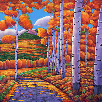 Aspen Wall Art - Painting - October Enclave by Johnathan Harris