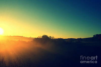 Photograph - October Farm Sunrise  by Neal Eslinger