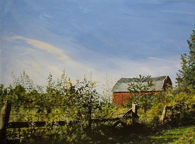 Painting - October Fence by William Brody