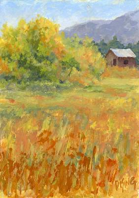 Fall Foliage Painting - October Field by David King