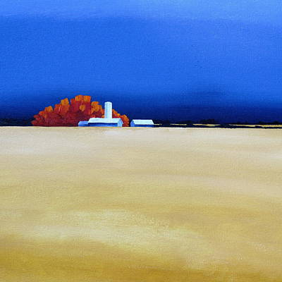 Painting - October Fields by Jo Appleby
