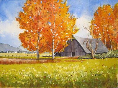 October Flame Art Print by Shirley Braithwaite Hunt