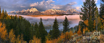 Photograph - October Fog Over The Snake River by Adam Jewell