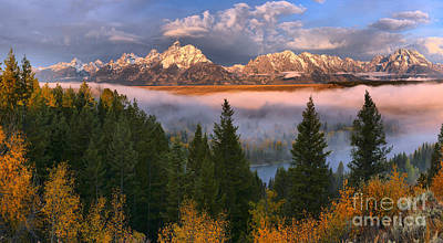 Photograph - October Fog Over The Snake River Crop by Adam Jewell