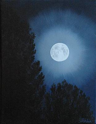 Painting - October Full Moon by Jean Ehler