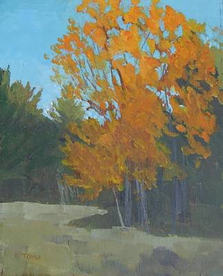 Painting - October Gold by Bill Tomsa