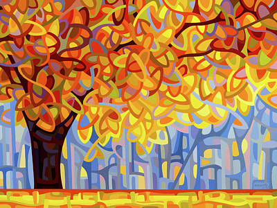 Painting - October Gold by Mandy Budan