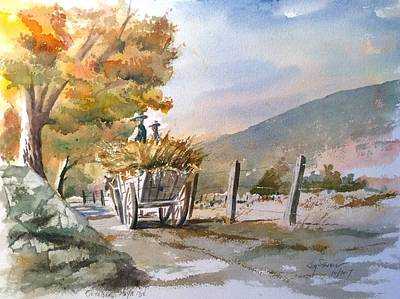 Painting - October Hayride by Jim Stovall