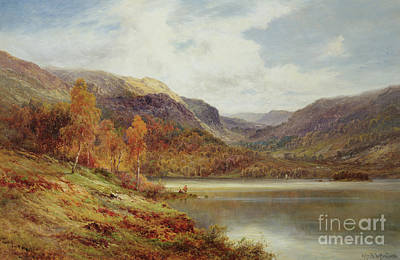 Bucolic Scenes Painting - October In The Highlands by Alfred de Breanski