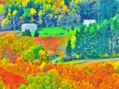 Digital Art - October In The Hills Of West Virginia by Digital Photographic Arts