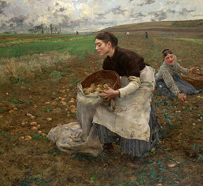 Field. Cloud Painting - October by Jules Bastien-Lepage