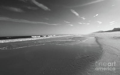 Photograph - October Low Tide Bw by Mary Haber