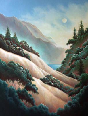 Painting - October Moon by Charle Hazlehurst