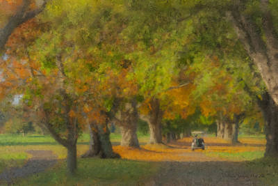 Mcentee Painting - October Morning At Easton Country Club by Bill McEntee