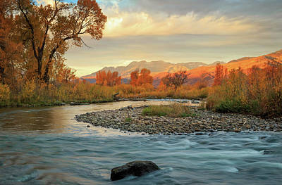 Photograph - October Morning At The Provo River. by Johnny Adolphson