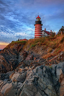 Photograph - October Morning At West Quoddy Head by Rick Berk