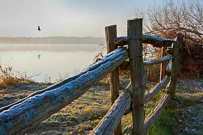 Photograph - October Morning Frost In Ontario by Tatiana Travelways