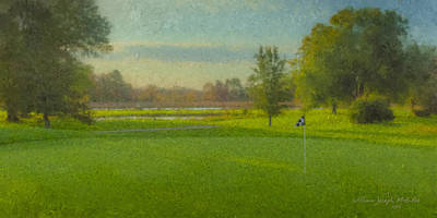Mcentee Painting - October Morning Golf by Bill McEntee