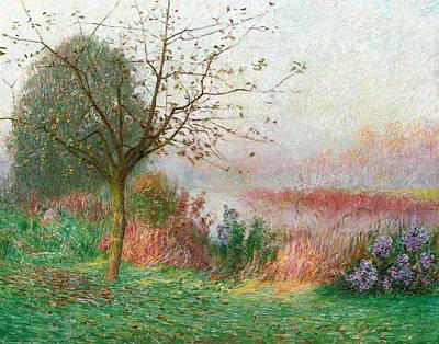 Mist Painting - October Morning On The River Lys by Emile Claus