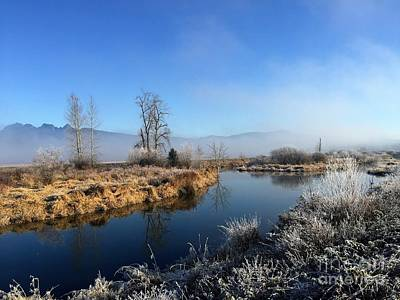Art Print featuring the photograph October Morning by Victor K