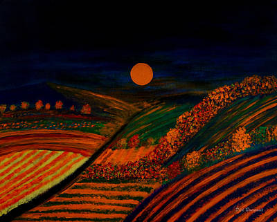 Painting - October Night by Dick Bourgault