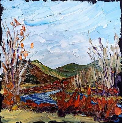 Painting - October On The Big Hole by Carrie Jacobson