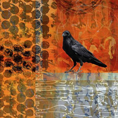 October Raven Art Print