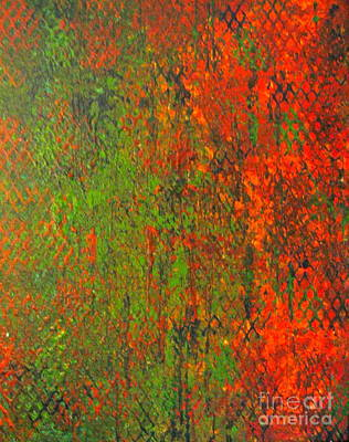 Grate Painting - October Rust by Jacqueline Athmann