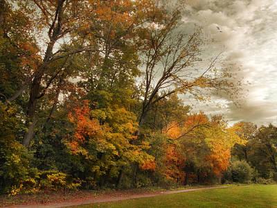 Fall Landscape Digital Art - October Skies  by Jessica Jenney