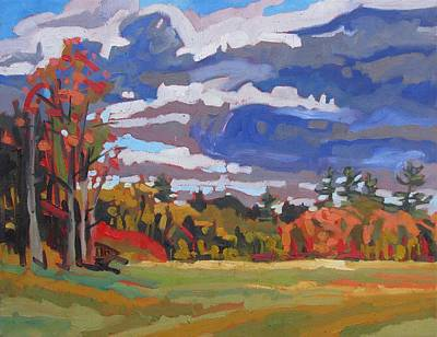 Painting - October Sky 2010 by Phil Chadwick