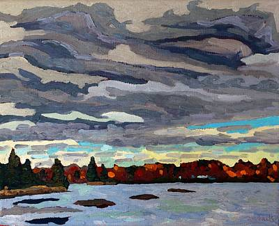 October Sky 2014 Art Print by Phil Chadwick