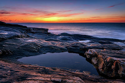 Photograph - October Sky At Pemaquid Point by Rick Berk