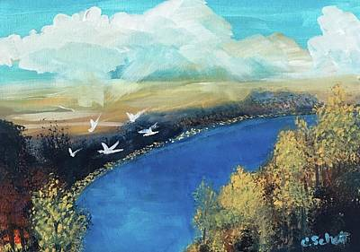 Painting - October Sky by Christina Schott