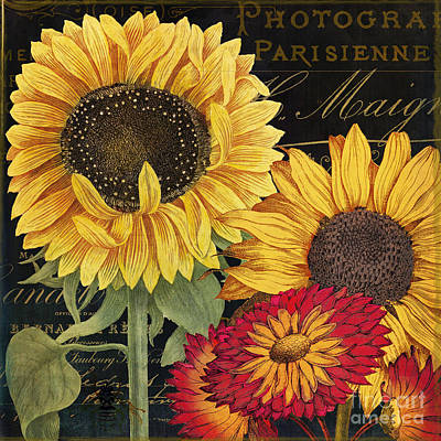 Sunflower Painting - October Sun I by Mindy Sommers