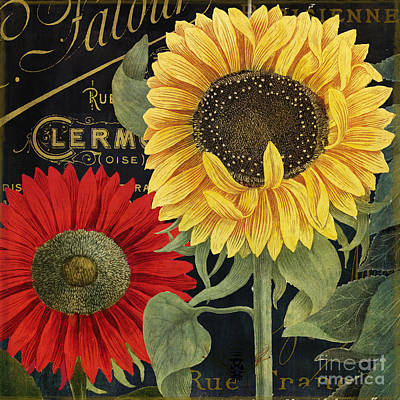Sunflower Painting - October Sun II by Mindy Sommers