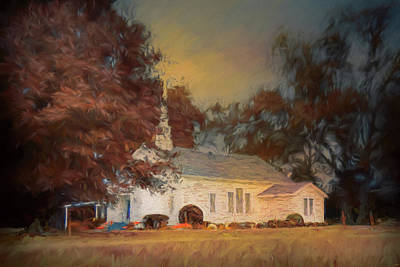 Painting - October Sunrise At The Chapel by Jai Johnson