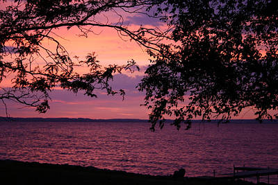 Art Print featuring the photograph October Sunrise On Winnebago by Jack G  Brauer