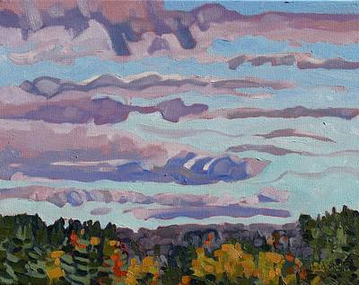 Watershed Painting - October Sunrise by Phil Chadwick