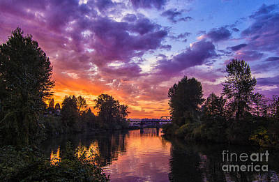 Photograph - October Sunrise - Snohomish by Sonya Lang