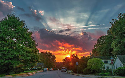Photograph - October Sunrise, Virginia by Jim Moore