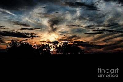 Photograph - October Sunset - 2 by David Bearden