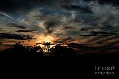 Photograph - October Sunset - 3 by David Bearden