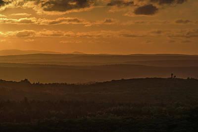October Sunset In Acadia Art Print