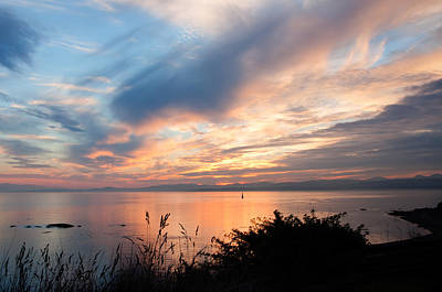Photograph - October Sunset by Keith Boone