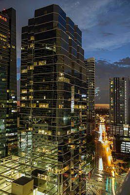 Photograph - October Sunset Over Brickell by Lynn Palmer