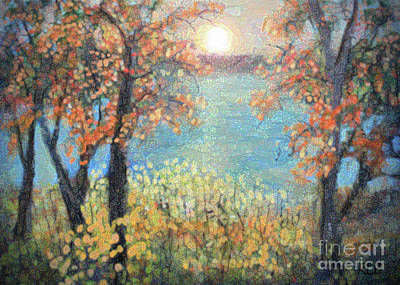 Painting - October Sunset by Rita Brown